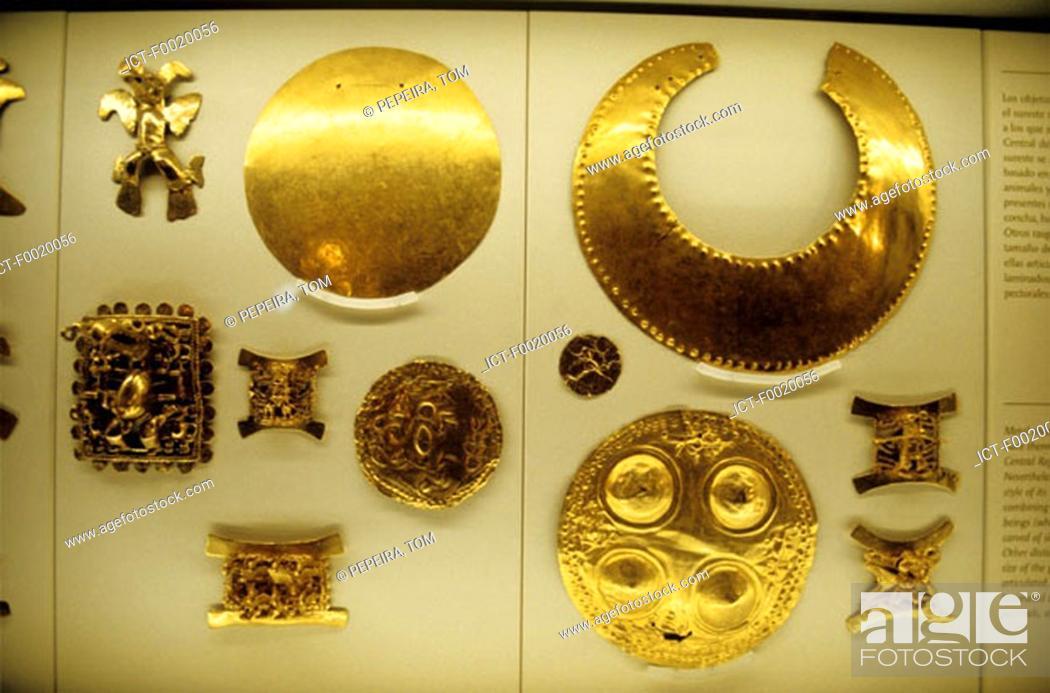 Stock Photo: Costa Rica, San JosÚ, National Museum, Precolumbian jewels.