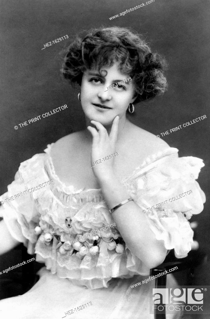 Stock Photo: Marie Studholme (1875-1930), English actress, 1900s. From the Rotary Photographic Series.
