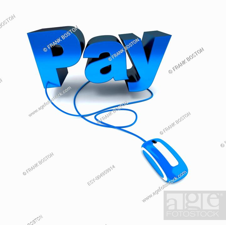 Stock Photo: Click and pay.