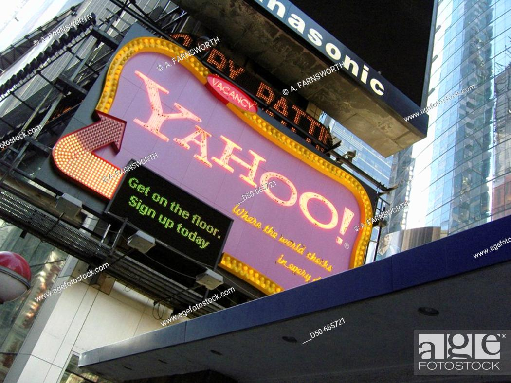 Stock Photo: New York City. Times Square and Yahoo sign.