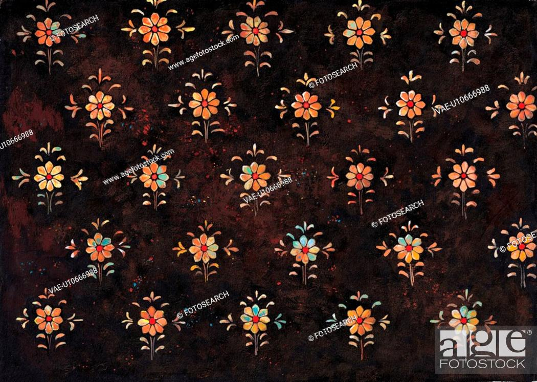 Stock Photo: plant pattern, Orientalpainting, design, flower, pattern, nature, tradition.