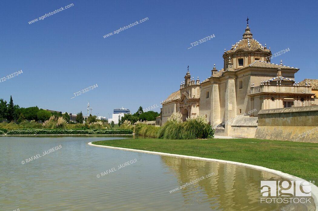 Stock Photo: Seville (Spain). View of the Monastery of the Cartuja de Sevilla.