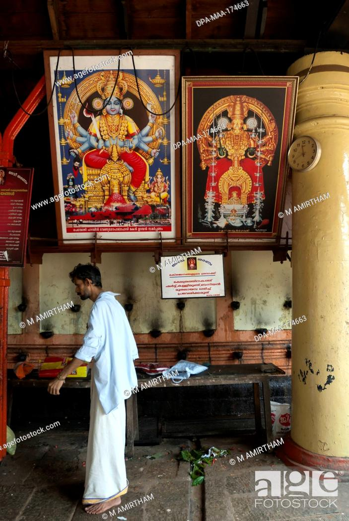 Stock Photo: Kali bhagavathy temple ; Kodungallur ; Kerala ; India NO MR.