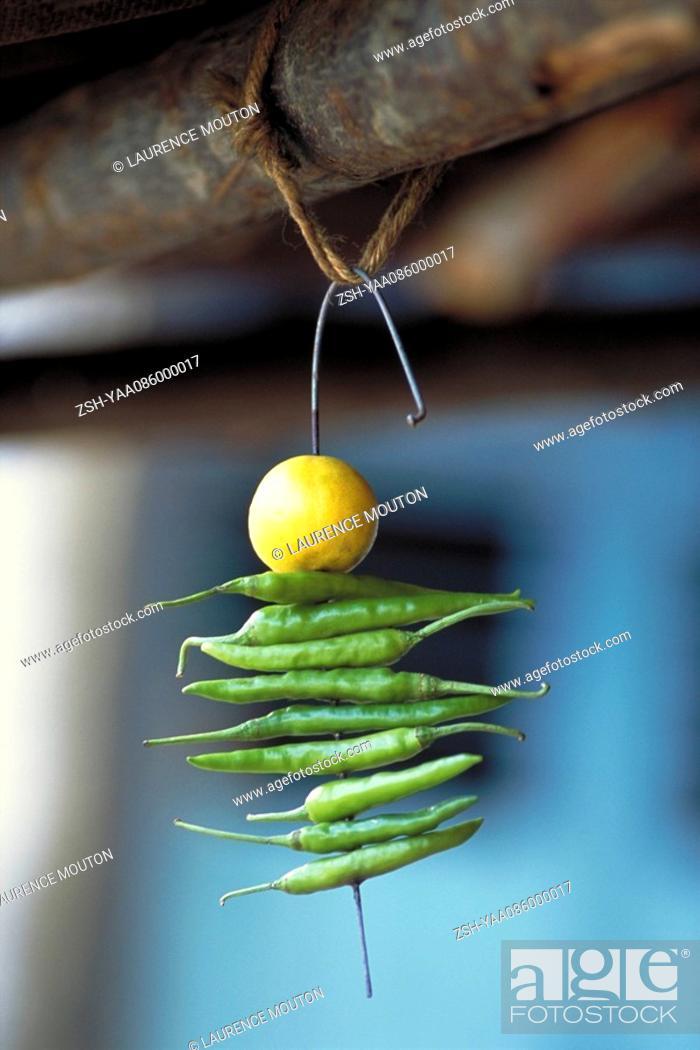 Stock Photo: Indian Nimbu Mirchi charm.