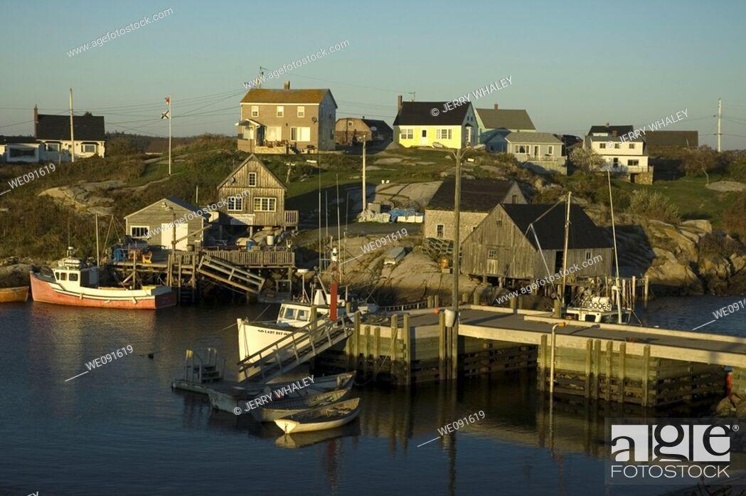 Imagen: Sunset, Peggys Cove, Nova Scotia, Canada.