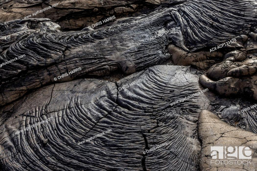 Stock Photo: Lava in Hawaii Volcanoes National Park, Hawaii,.