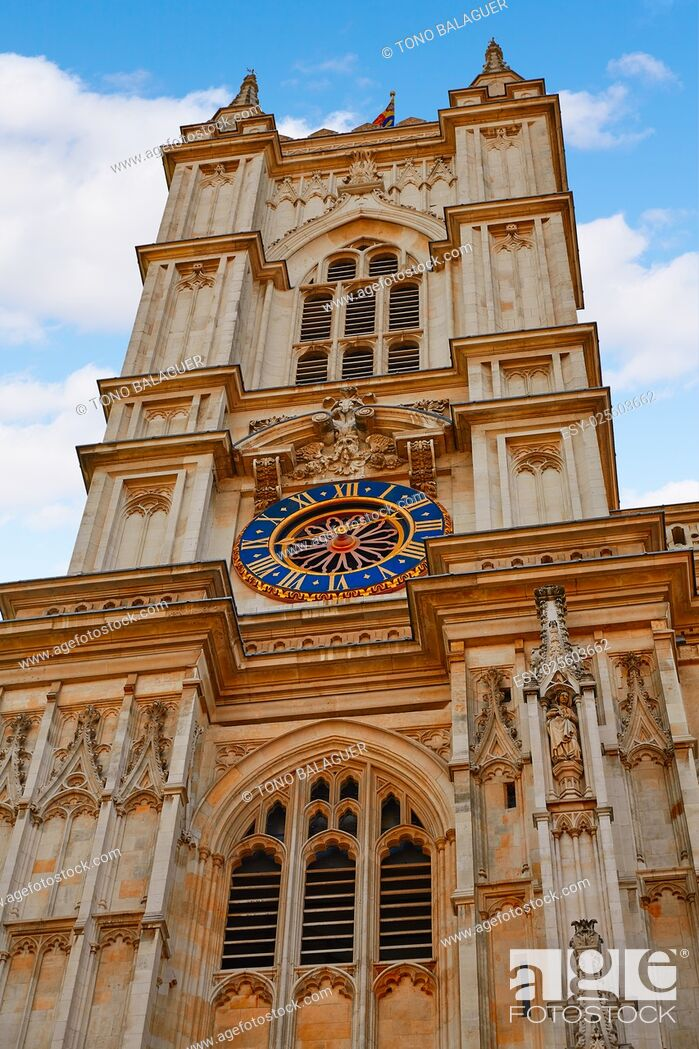 Stock Photo: London Westminster Abbey facade in England.