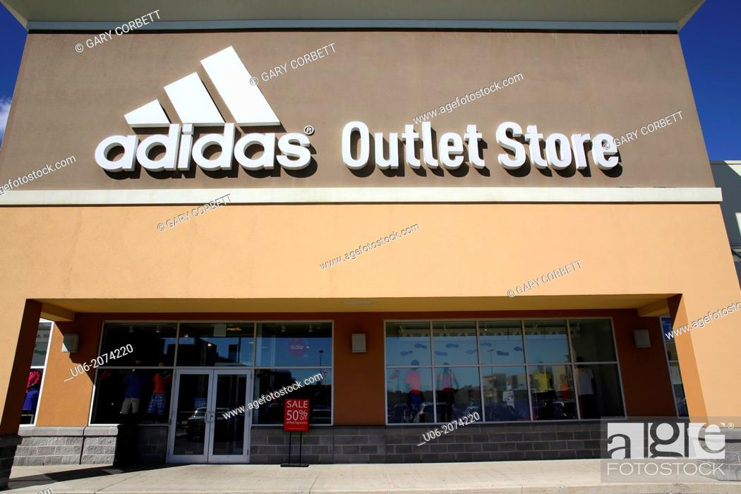 f8b9a67e Stock Photo - The entrance and exterior of a Adidas factory outlet mall  store in Kingston, Ontario, Canada