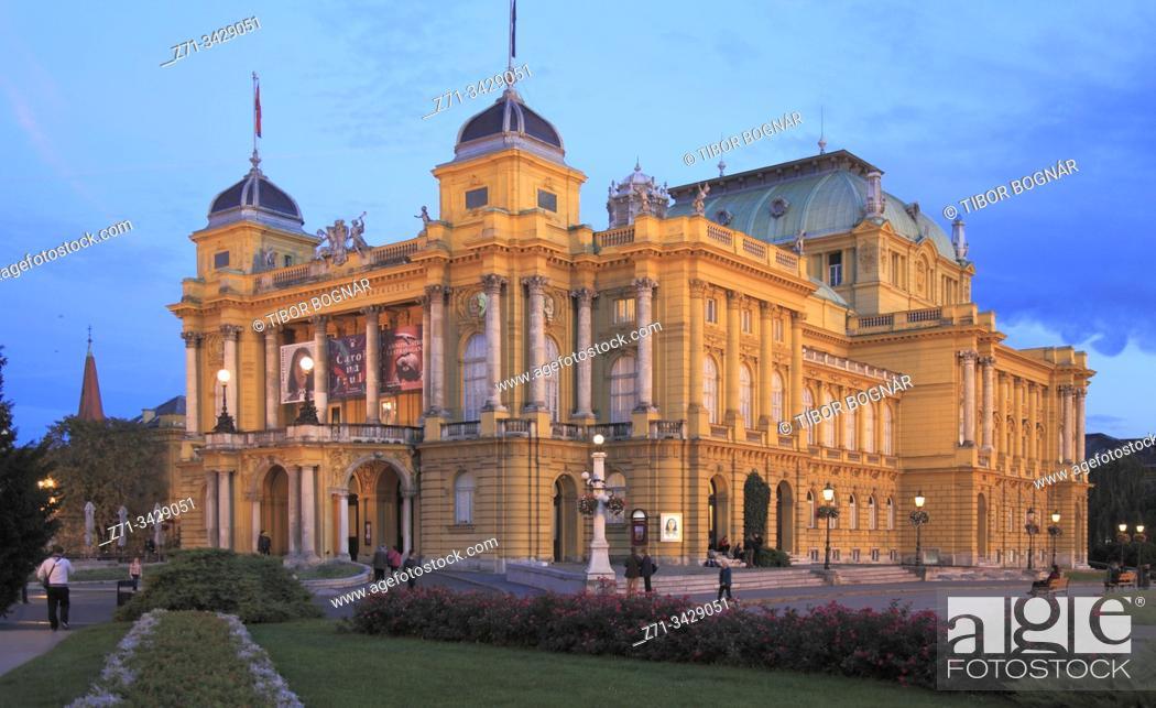 Imagen: Croatia, Zagreb, Croatian National Theatre.