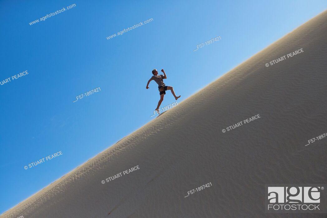 Stock Photo: Running Uphill.