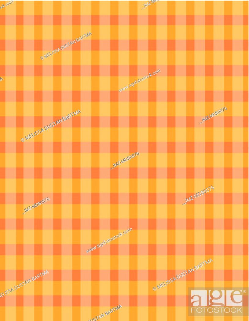 Stock Photo: An orange checked pattern illustration.