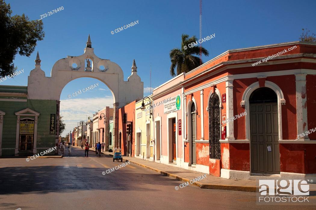 Stock Photo: Arco de San Juan-San Juan Arch, Merida, Yucatan Province, Mexico, Central America.