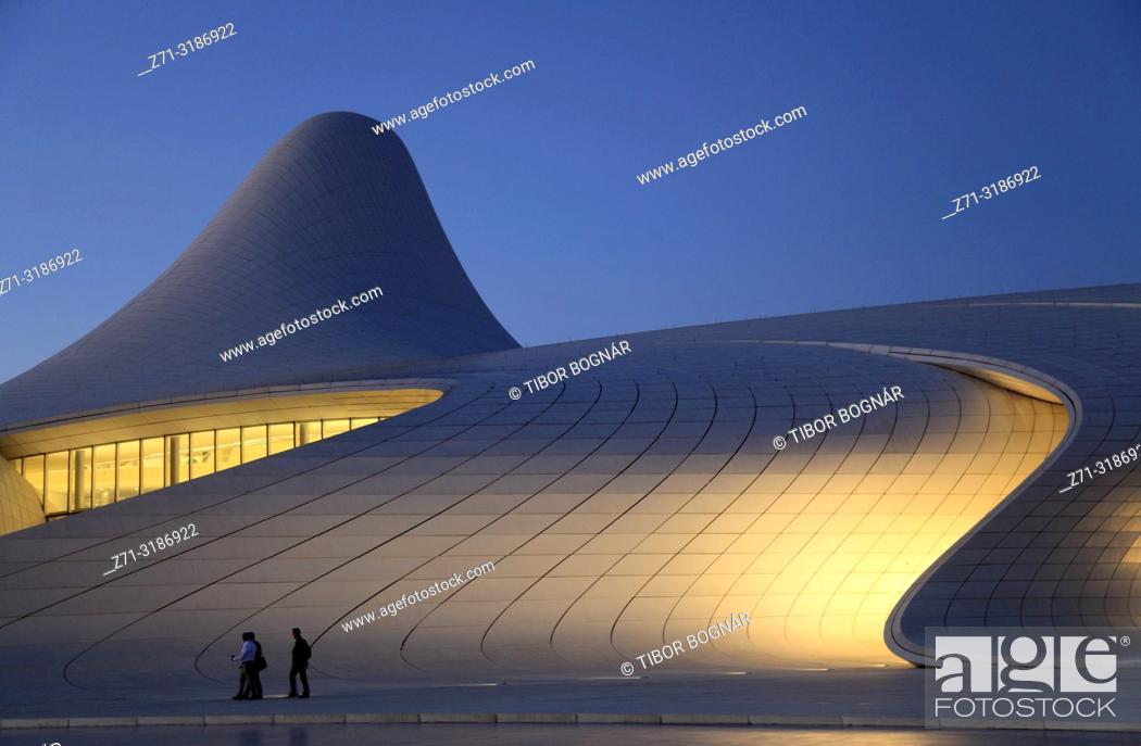 Stock Photo: Azerbaijan; Baku; Heydar Aliyev Center; Zaha Hadid architect;.