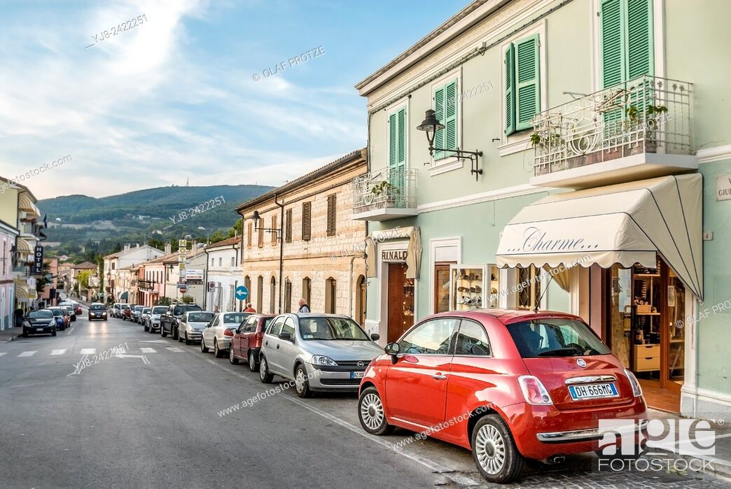 Stock Photo: Old town of Sirolo, Marche, Italy.
