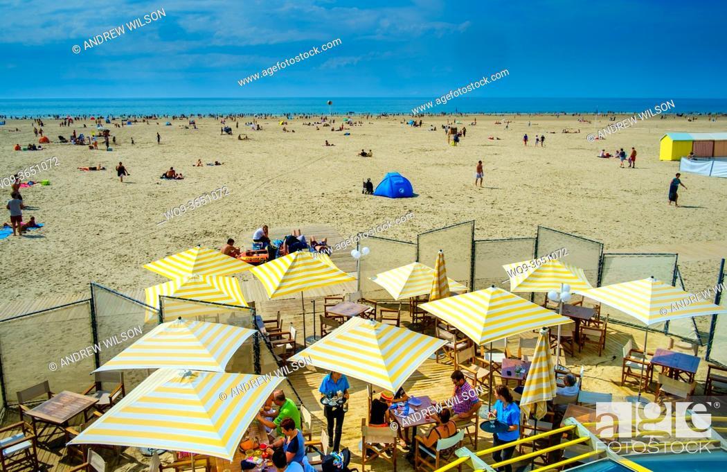 Stock Photo: The beach at Berck-sur-Mer, Normandy, France.