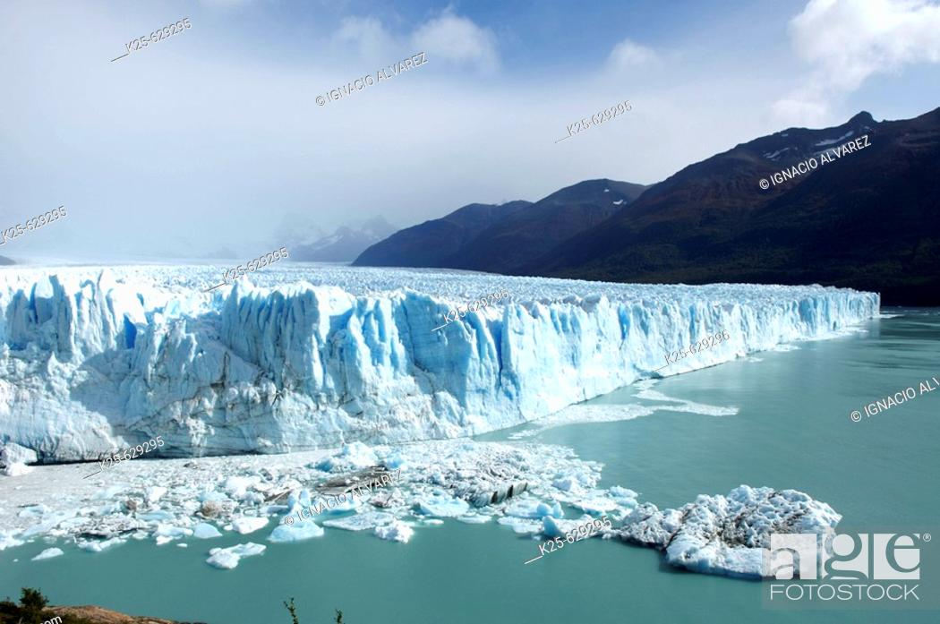 Stock Photo: Perito Moreno glacier. Los Glaciares National Park. Santa Cruz province. Patagonia. Argentina.