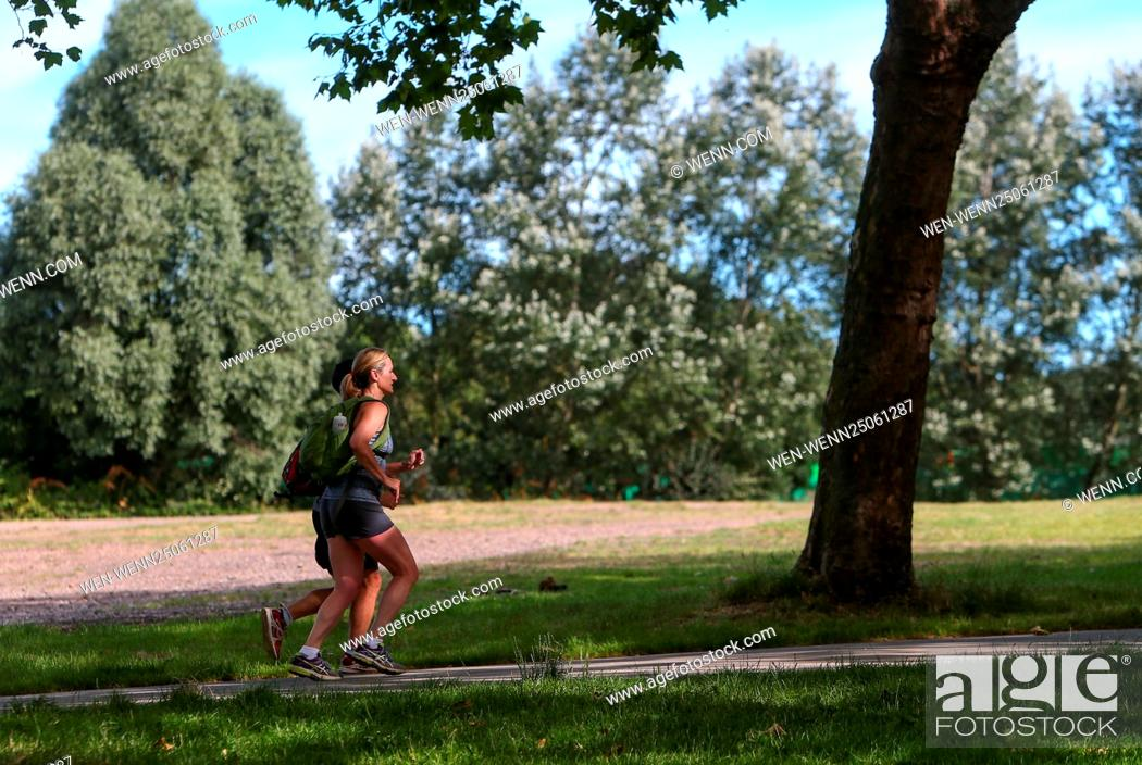 Stock Photo: Londoners and tourists take advantage of the hot summer weather on Hampstead Heath and in Hyde Park Featuring: Atmosphere Where: London.