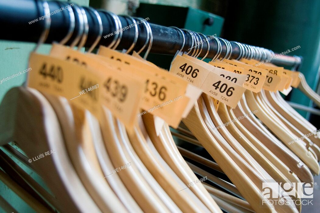 Stock Photo: Clothes rack.