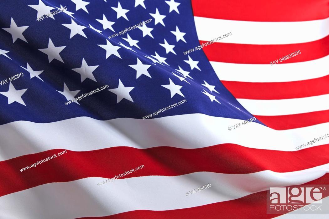 Stock Photo: Flag of the USA.