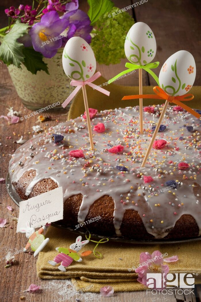 Stock Photo: Torta pasquale (Easter cake, Italy).