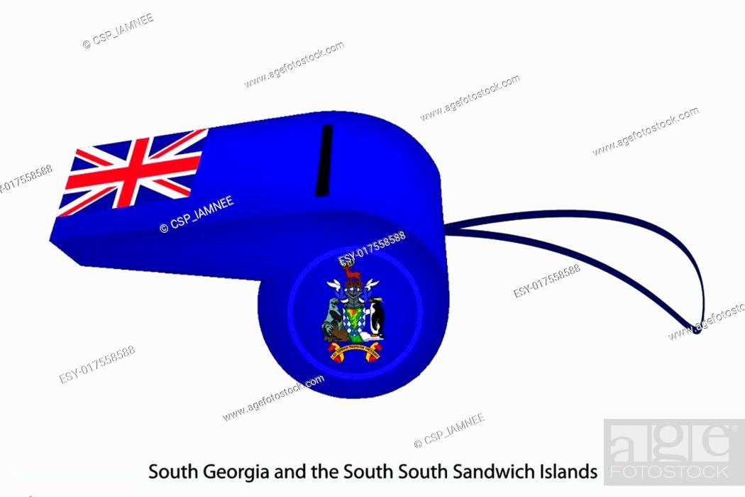 Stock Vector: A Whistle of South Georgia and The South Sandwich Islands.