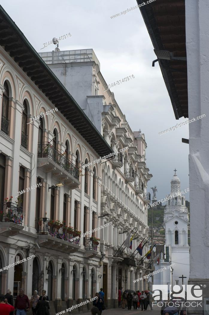 Street Scene With Colonial Architecture In The Historic Center