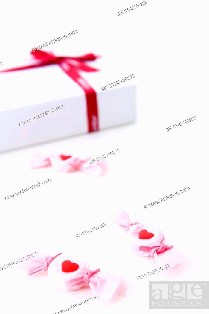 Stock Photo: candy and gift box.