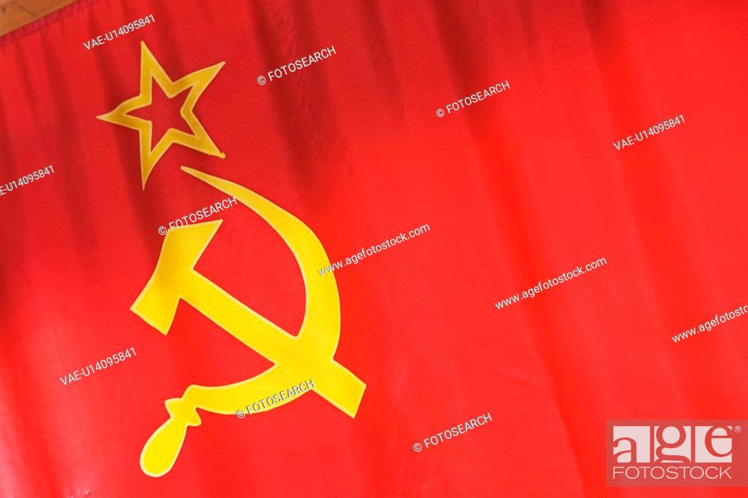 Stock Photo: Close-Up, Cloth, Communist, Emblem, Fabric.