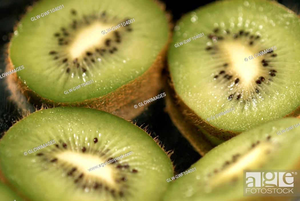 Stock Photo: Close-up of kiwi fruit.