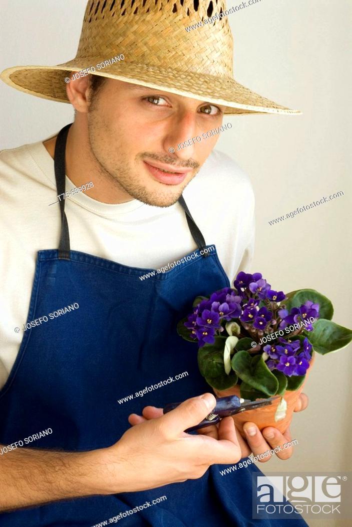 Stock Photo: Flower-grower.