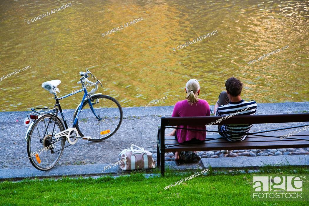Stock Photo: Aura River, Turku, Finland.