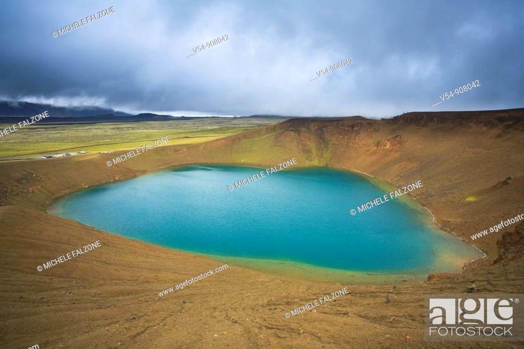 Stock Photo: Leirhnjukur Crater, Krafla Volcano Caldera, Iceland.