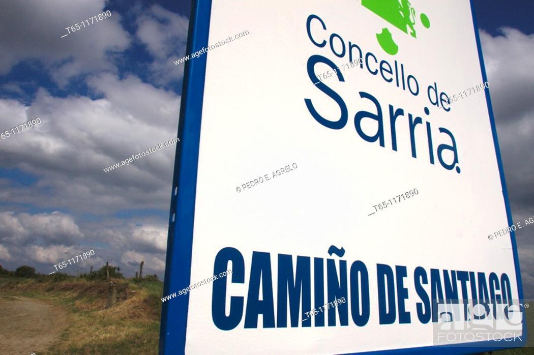 Imagen: Camino de Santiago on its way through Sarria, Province of Lugo, Galicia, Spain.