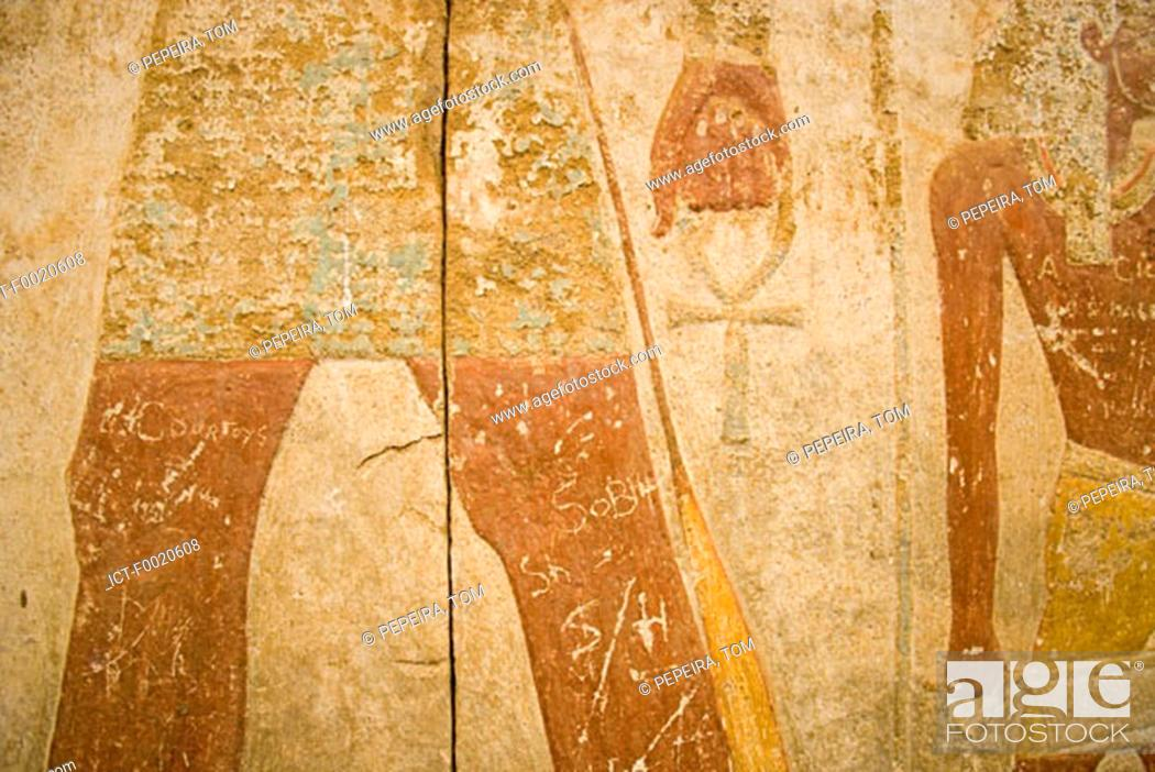 Stock Photo: Sudan, Khartum, National Museum, ancient painting.