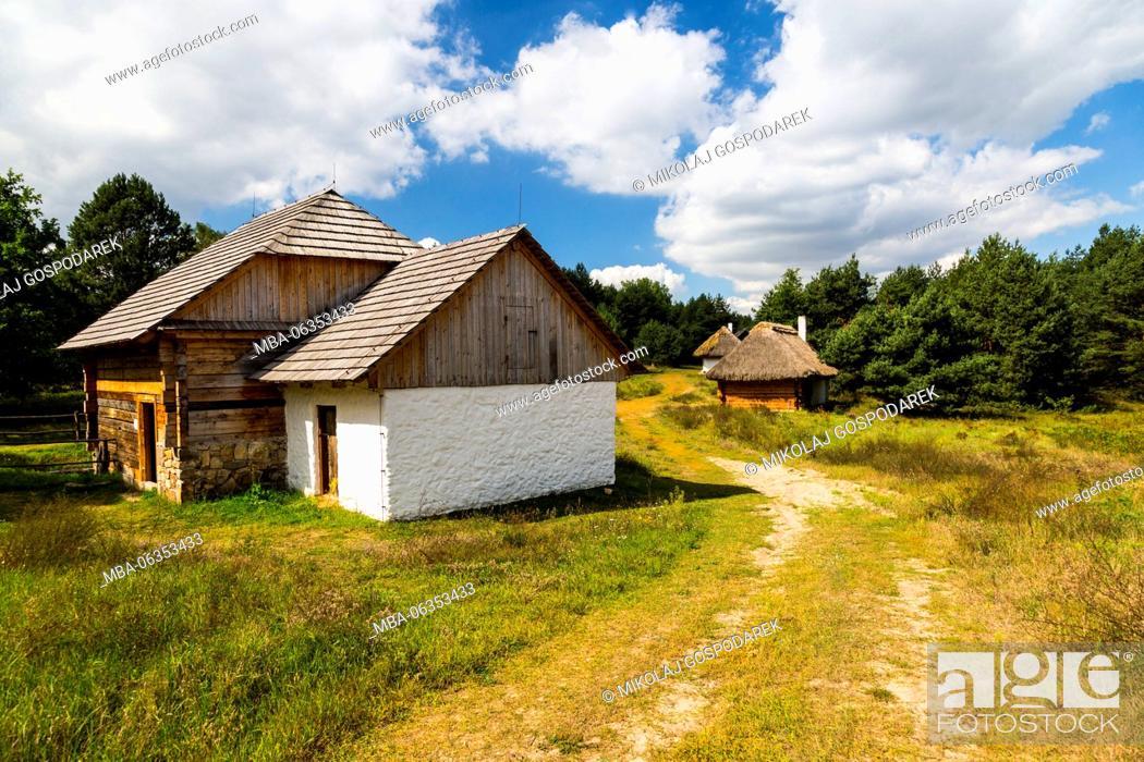 Stock Photo: ethnography, countryside, poland, swietokrzyskie, tokarnia, open-air, museum, kielce, muzeum wsi kieleckiej, park etnograficzny, skansen, travel europe.