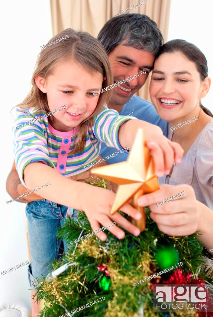 Photo de stock: Family Christmas portrait.