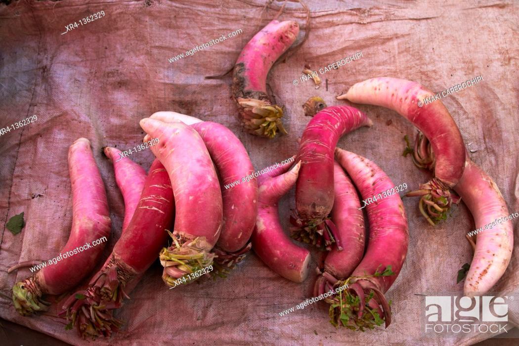Stock Photo: Chinese Vegetables, Weishan, Dali Bai Autonomous Prefecture, Yunnan, China.