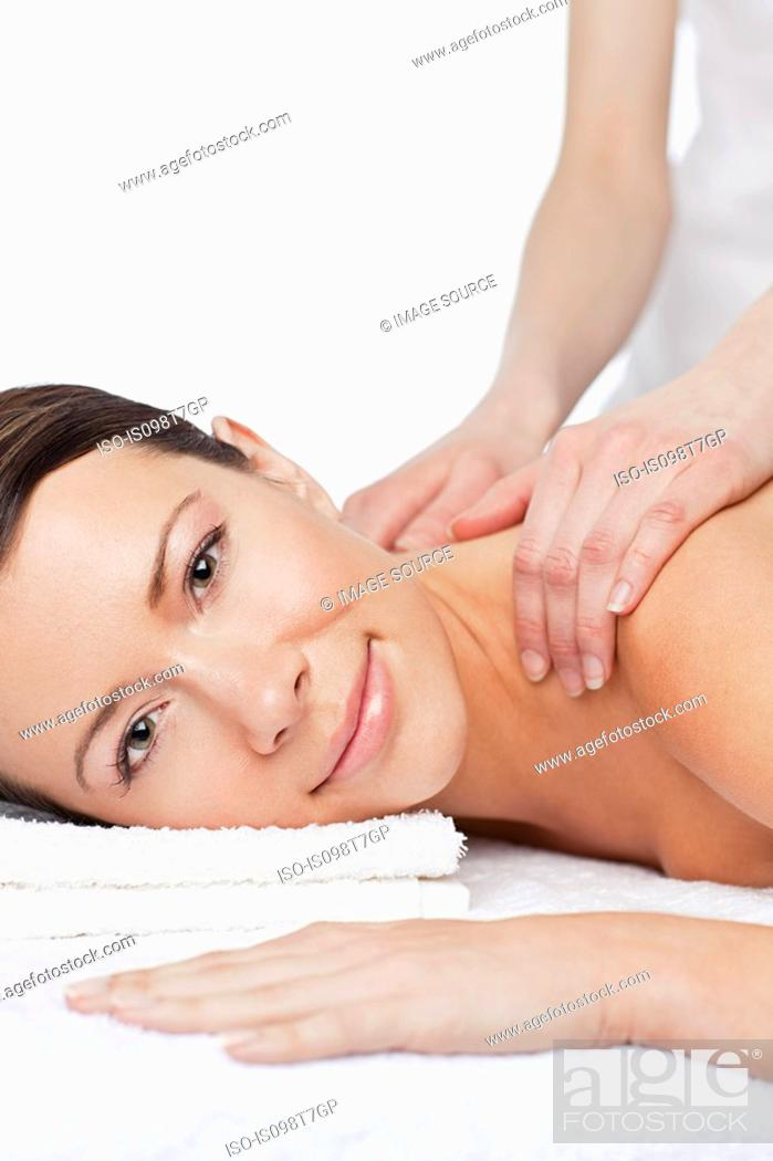Stock Photo: Woman having a massage.
