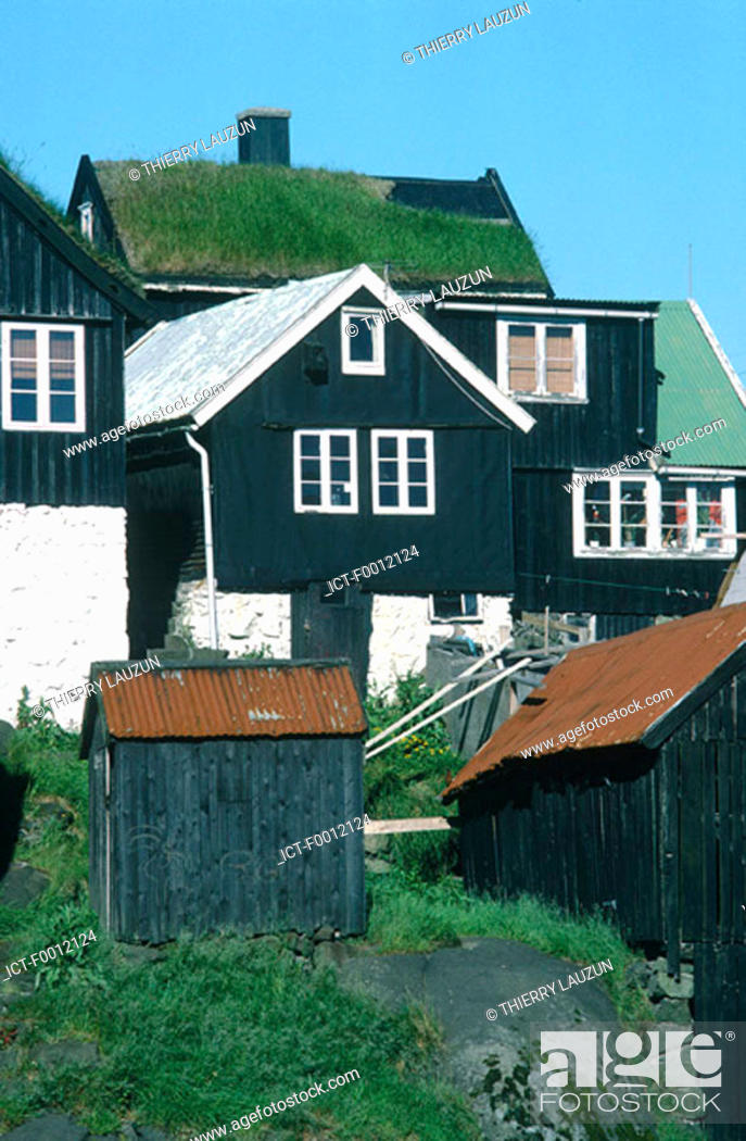 Stock Photo: Denmark, Faroe Islands, T=rshavn, Tinganes district.