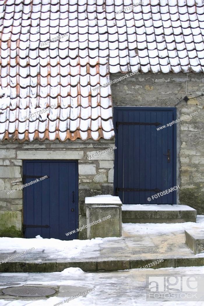 Stock Photo: Building Exterior, Building Structure, Day, Door, Doorway.