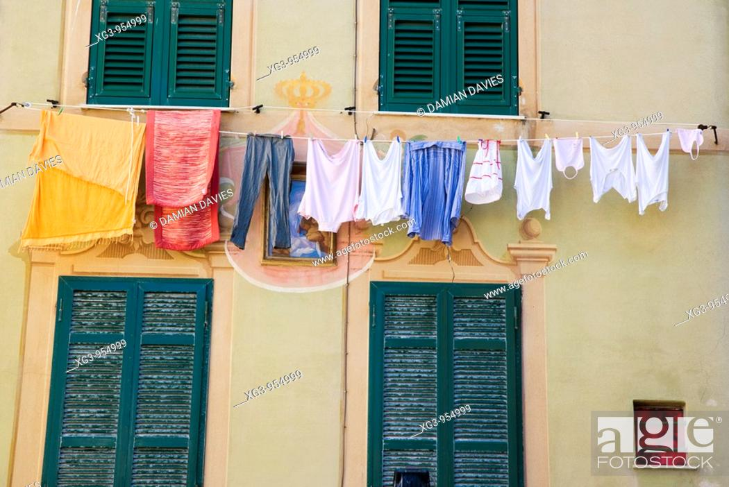 Stock Photo: Camogli, Liguria, Italy.