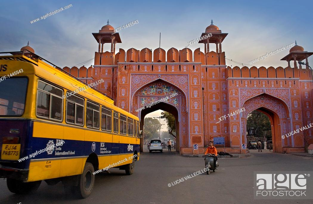 Stock Photo: Ajmeri Gate  Jaipur  Rajasthan,India.