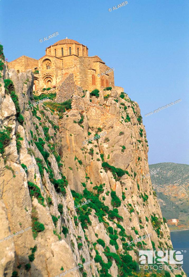 Stock Photo: Peloponnese, Monemvassia.
