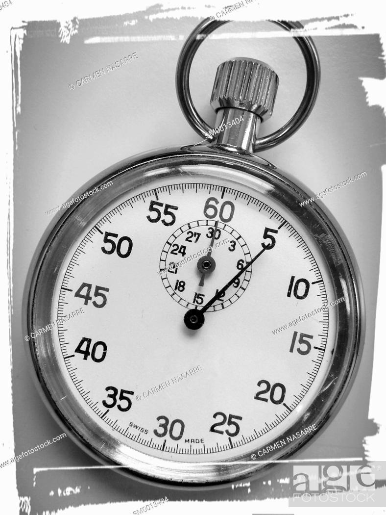 Stock Photo: Analog stopwatch to measure time.