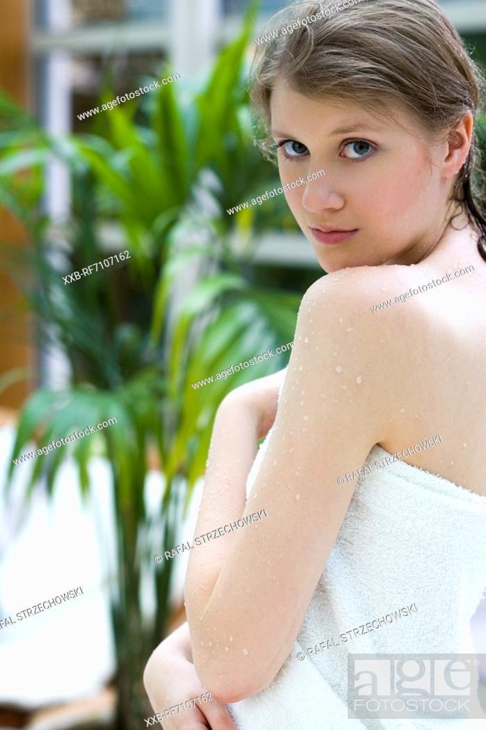 Stock Photo: Naked beautiful woman.