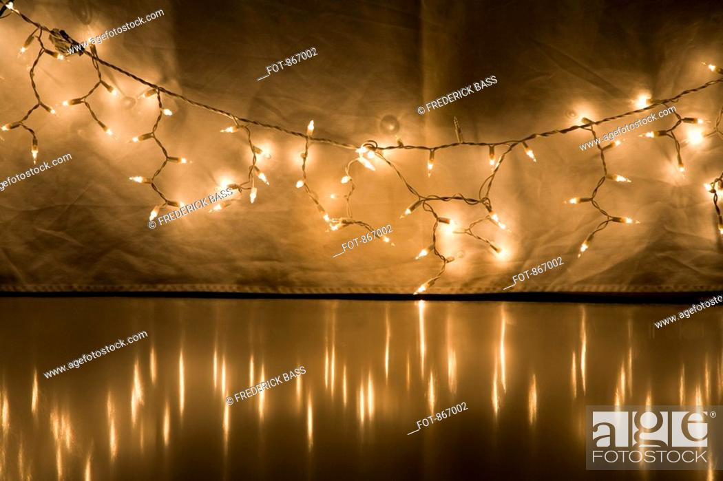Stock Photo: A string of fairy lights.
