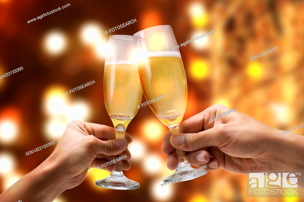 Stock Photo: Toasting Champagne.