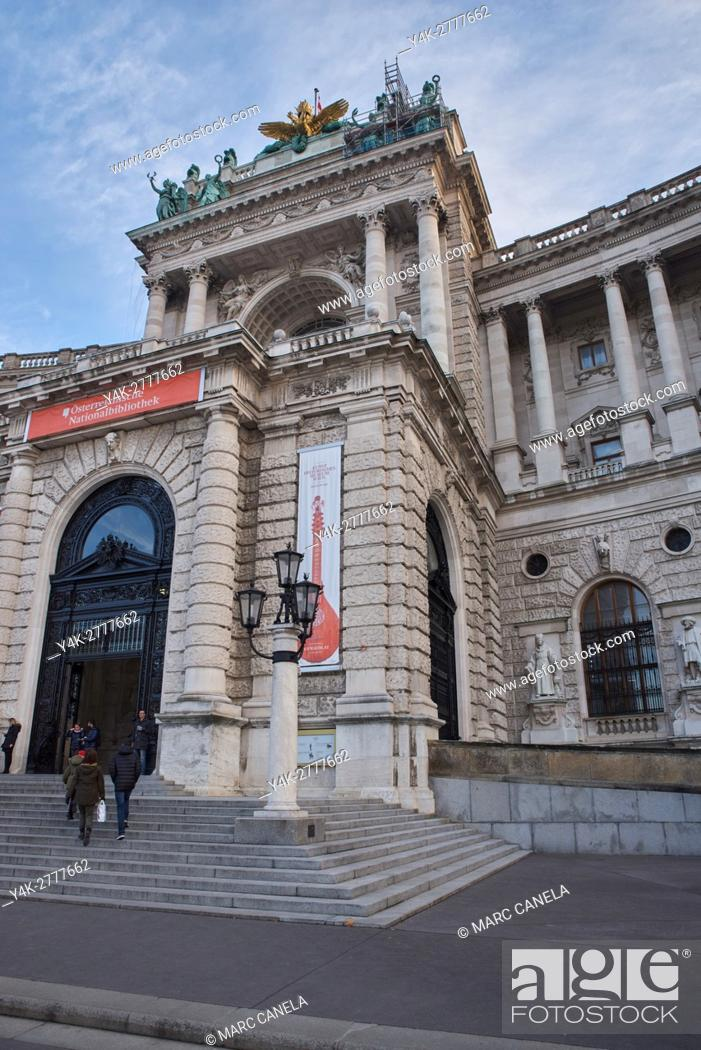 Stock Photo: architecture, austria, austrian, bibliotheque.