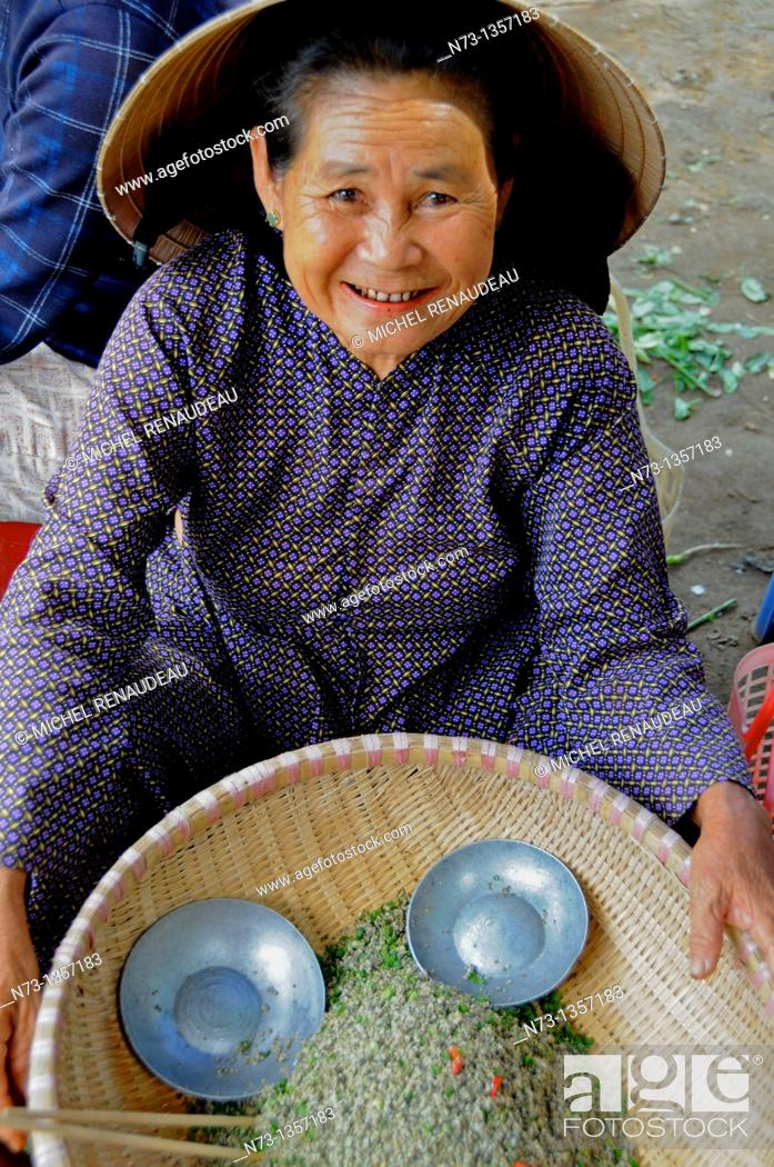 Stock Photo: Vietnam, Quang Nam, Hoi An ancient town, declared World Heritage by UNESCO, market.