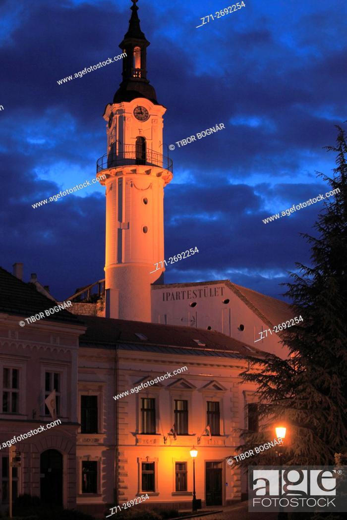 Stock Photo: Hungary, Veszprém, Firewatch Tower,.